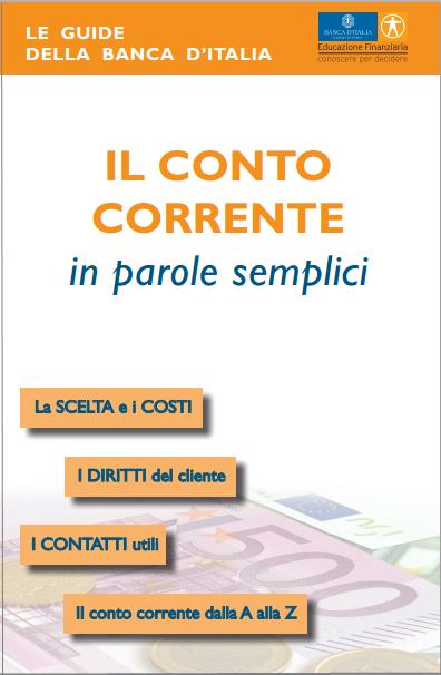 guida semplice banca d'italia - il conto corrente in parole semplici